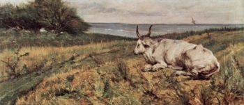 Liegende Kuh | Giovanni Fattori | oil painting