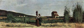 Livornesische Wassertr?gerinnen | Giovanni Fattori | oil painting