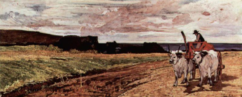 Ochsengespann   Giovanni Fattori   oil painting