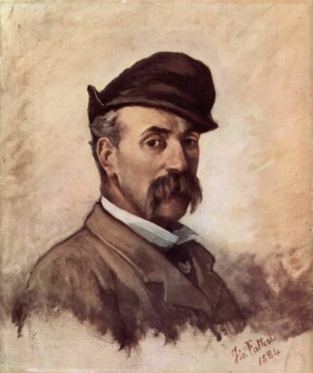 Selbstportr?t mit f?nfzig Jahren | Giovanni Fattori | oil painting