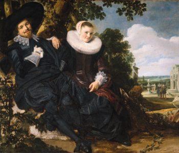 Marriage Portrait of Isaac Massa en Beatrix van der Laen | Frans Hals | oil painting