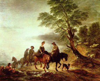 Ritt zum Markt | Thomas Gainsborough | oil painting