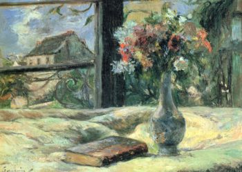 Blumenvase am Fenster | Paul Gauguin | oil painting