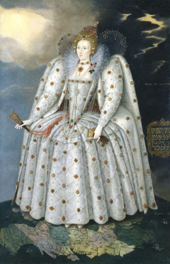 Queen Elizabeth I The Ditchley portrait | Marcus Gheeraerts the Younger | oil painting