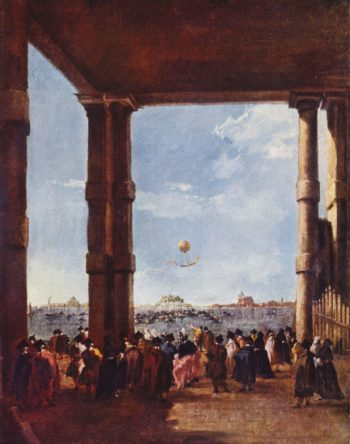Aufstieg eines Luftballons | Francesco Guardi | oil painting