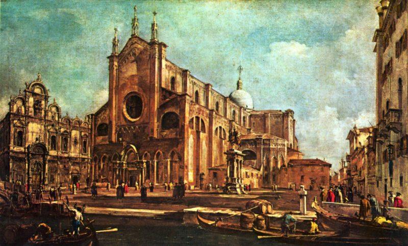 Der Campo santi Giovanni e Paolo in Venedig / Venezia | Francesco Guardi | oil painting