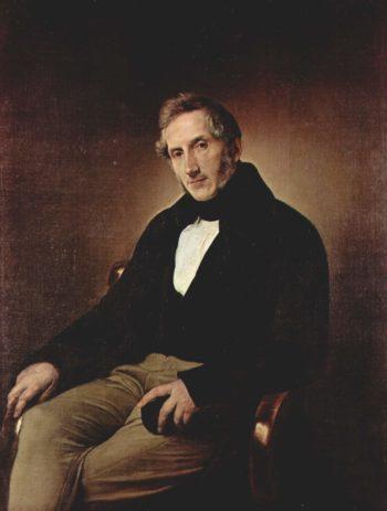 Portr?t des Alessandro Manzoni. | Francesco Hayez | oil painting
