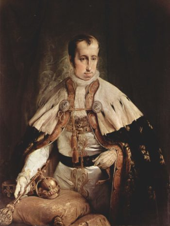 Portr?t des Kaisers Ferdinand I. von ?sterreich. Italiano: Ritratto dell'imperatore d'Austria Ferdinando I d'Asburgo. | Francesco Hayez | oil painting