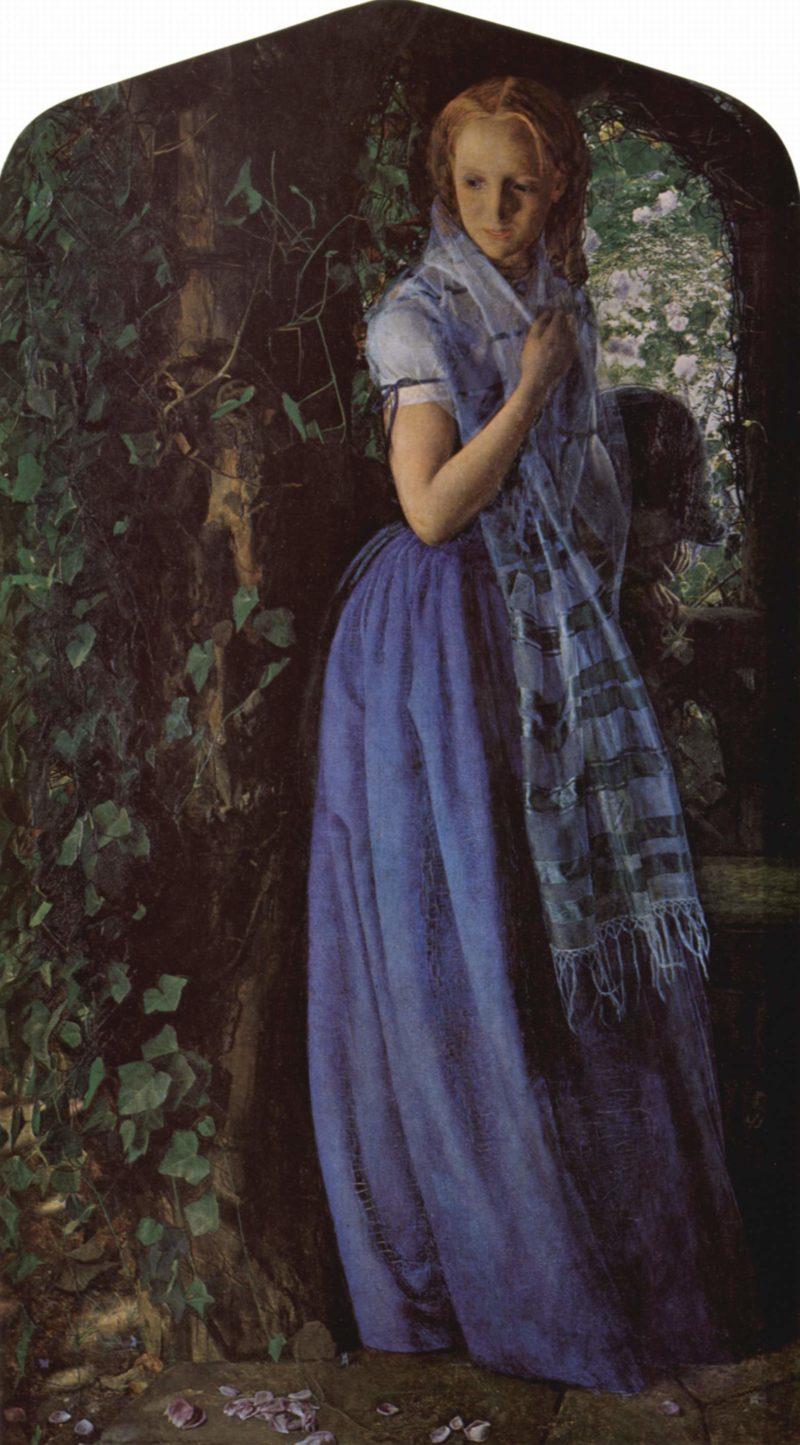 Aprilliebe   Arthur Hughes   oil painting
