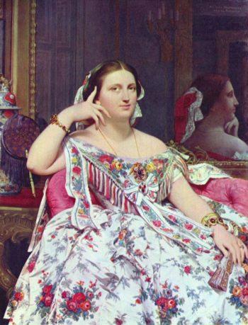 Portr?t der Madame Moitessier sitzend   Jean Auguste Dominique Ingres   oil painting