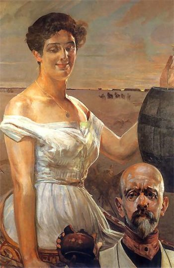 U studni | Jacek Malczewski | oil painting