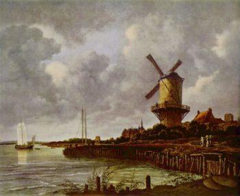 The windmill at Wijk bij Duurstede | Jacob Isaacksz. van Ruisdael | oil painting