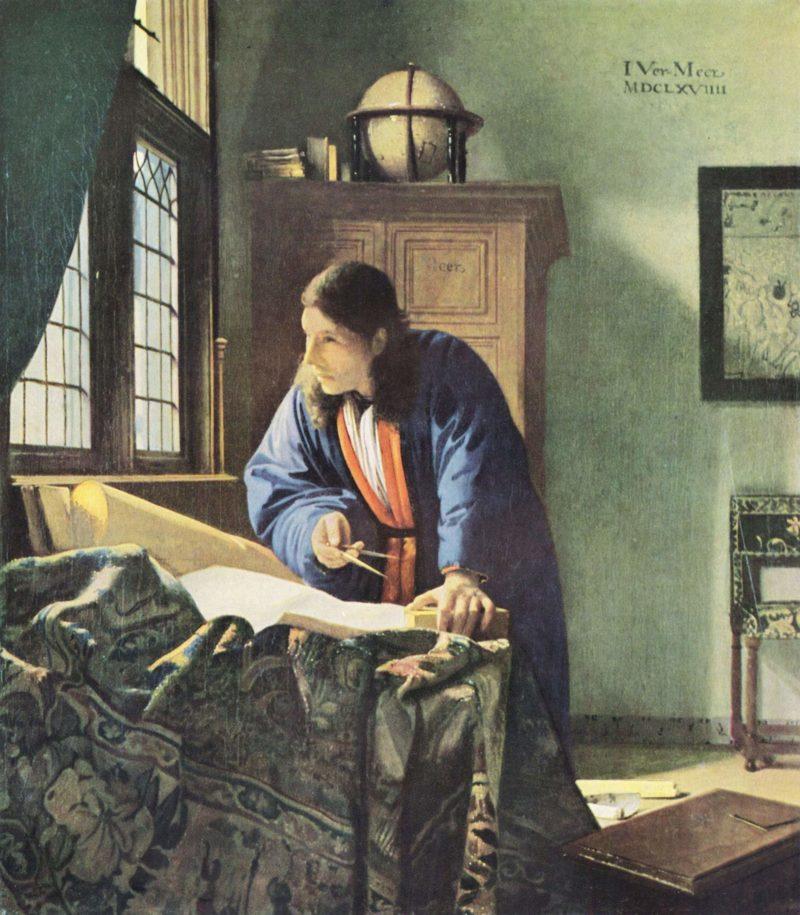 Der Geograph. | Johannes Vermeer | oil painting