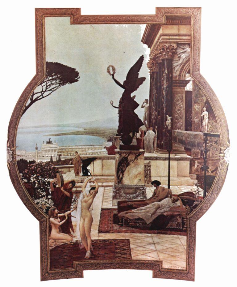 Das Theater von Taormina Italiano: Teatro greco di Taormina. | Gustav Klimt | oil painting