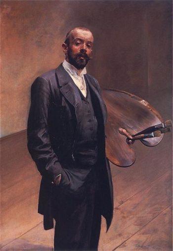 Autoportret z paleta | Jacek Malczewski | oil painting