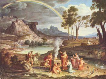 Landschaft mit dem Dankopfer Noahs | Joseph Anton Koch | oil painting