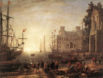 Port with Villa Medici | Claude Lorrain | oil painting