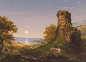 Tower With Moonlight | Thomas Cole | oil painting