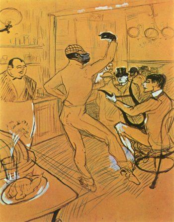 Chocolat Dancing In Bar Darchille | Henri Toulouse Lautrec | oil painting