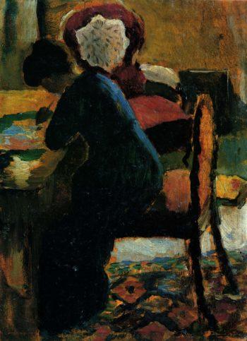 Elisabeth am Schreibtisch | August Macke | oil painting