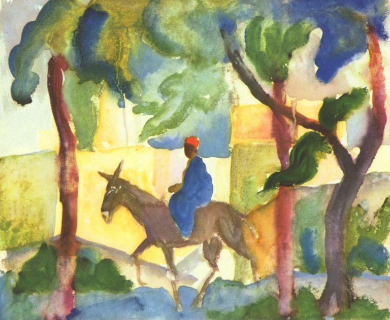 Eselreiter | August Macke | oil painting