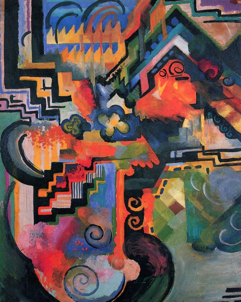 Farbige Komposition | August Macke | oil painting