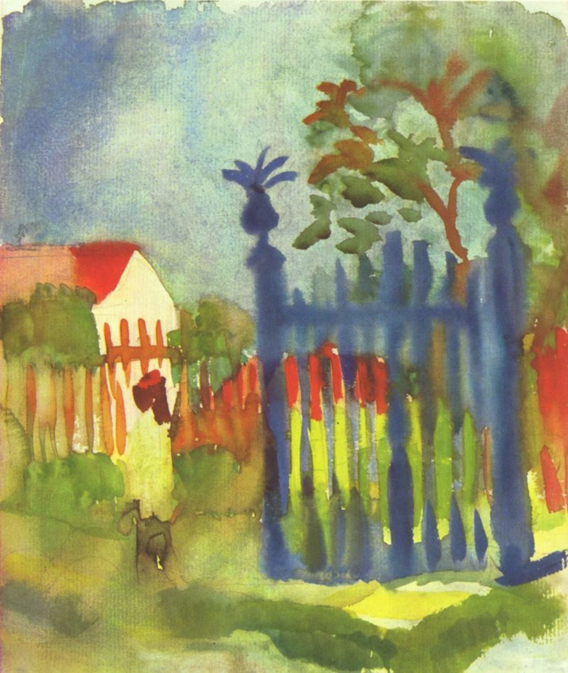 Gartentor | August Macke | oil painting