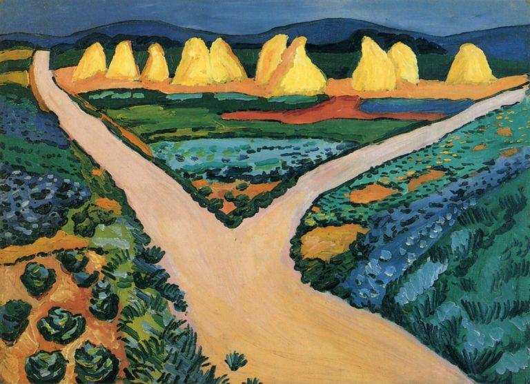 Gem?sefelder | August Macke | oil painting