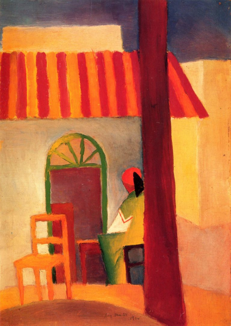 T?rkisches Caf? (I) | August Macke | oil painting