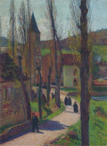 Church at Labastide du Vert | Henri Martin | oil painting