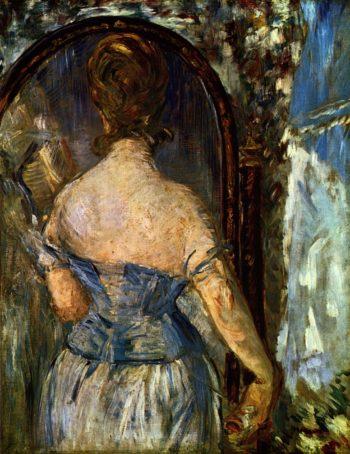 Vor dem Spiegel | Edouard Manet | oil painting