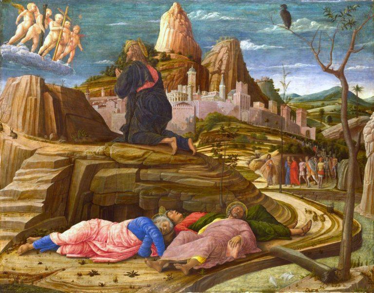 Christus am ?lberg im Garten Gethsemane   Andrea Mantegna   oil painting