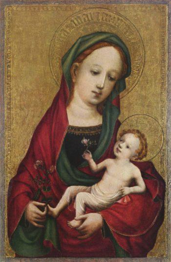 Madonna mit der Erbsenbl?te | Meister der Heiligen Veronika | oil painting