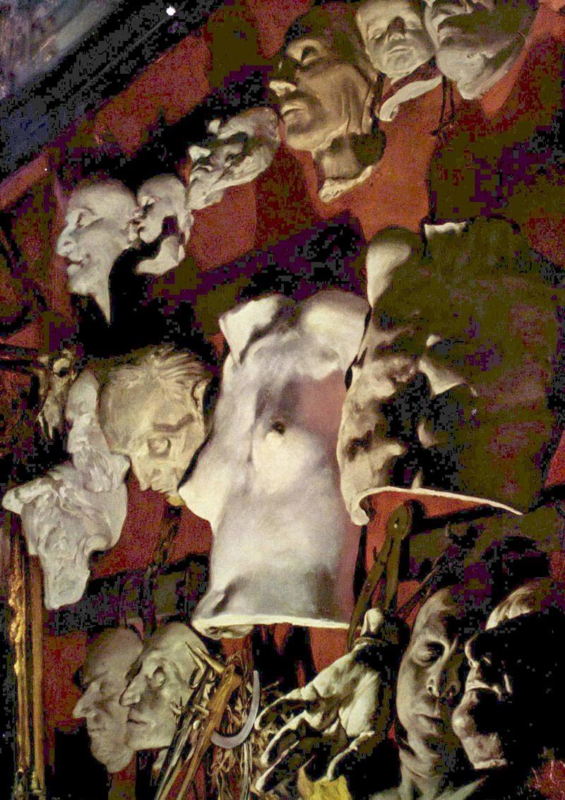 Atelierwand   Adolph von Menzel   oil painting
