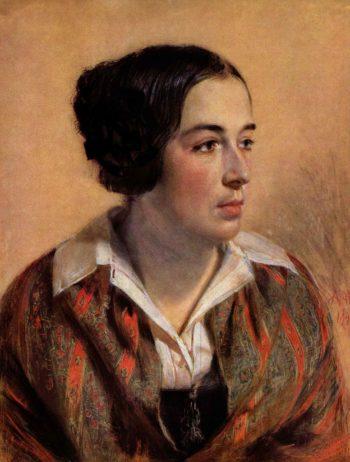 Portr?t der Karoline Arnold | Adolph von Menzel | oil painting