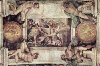 Deckenfresko zur Sch?pfungsgeschichte in der Sixtinischen Kapelle