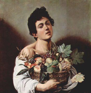 Knabe mit Fruchtkorb | Michelangelo Merisi da Caravaggio | oil painting