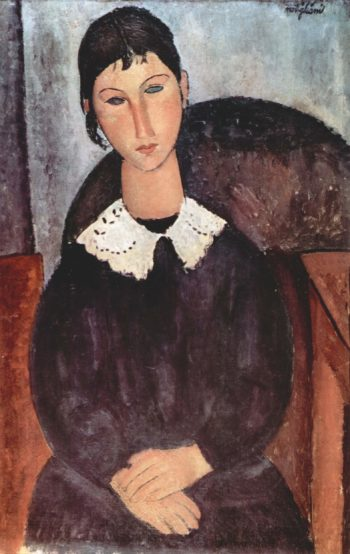 Elvira mit weissem Kragen | Amadeo Modigliani | oil painting
