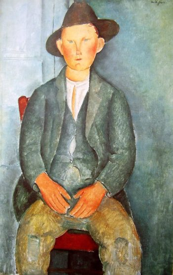 Junger Bauer | Amadeo Modigliani | oil painting
