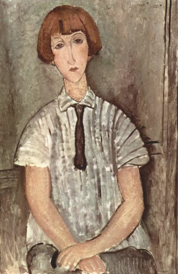 M?dchen mit Bluse | Amadeo Modigliani | oil painting