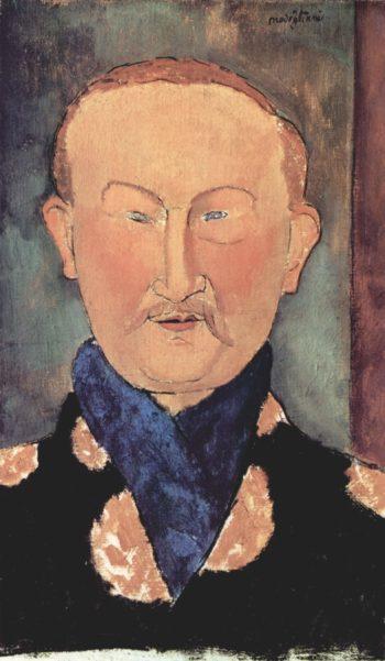 Portr?t des Leon Bakst | Amadeo Modigliani | oil painting
