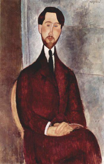 Portr?t des L?opold Zborowski | Amadeo Modigliani | oil painting