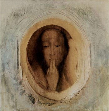English Title - Silence | Odilon Redon | oil painting