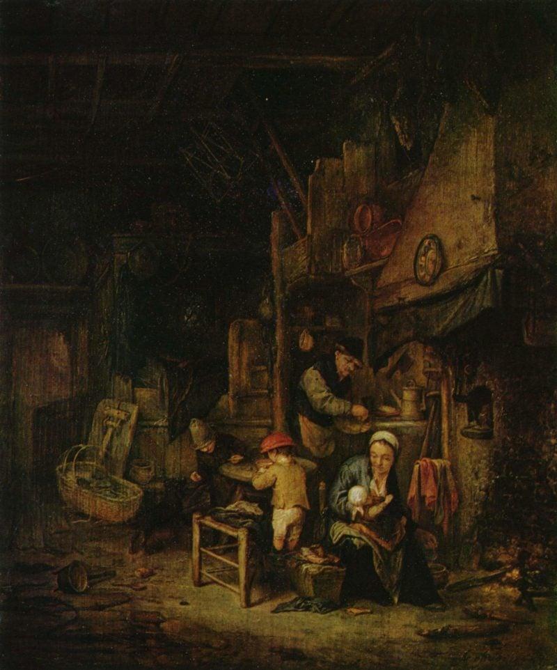 Bauernfamilie in der Stube   Ostade