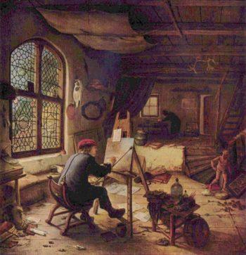 Der Maler in seiner Werkstatt (Selbstportr?t) | Ostade