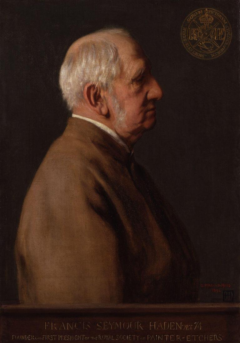 Sir Francis Seymour Haden   George Percy Jacomb Hood   oil painting