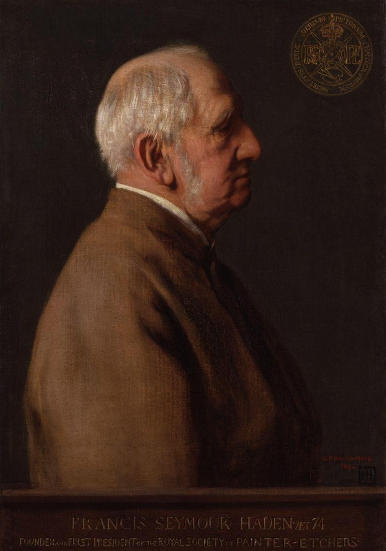 Sir Francis Seymour Haden | George Percy Jacomb Hood | oil painting