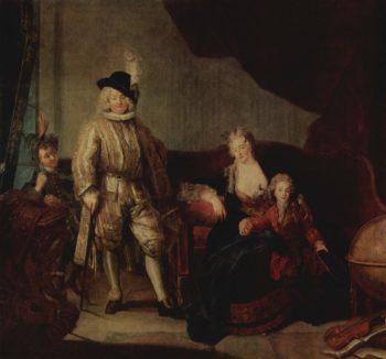 Familienportr?t des Baron von Erlach | Pesne