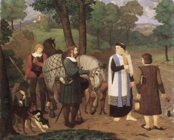 Rudolf von Habsburg und der Priester | Franz Pforr | oil painting