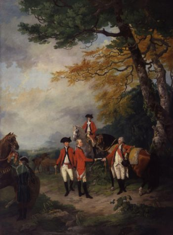 Sir John Irwin KB reviewing Troops in Dublin | Francis Wheatley | oil painting